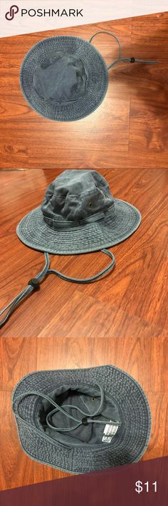 NWOT Drawstring Bucket Hat Brand new never worn Bucket Hat in Blue denim color Urban Outfitters Accessories Hats