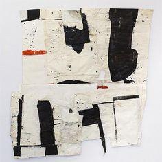 Sati Zech Black no 4 ,2013, mixed media, paper, 145 x 126 cm (57 x 49 inches)