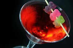 Gummy Bear Martini (Or a Gnummy Bear Martini, as we call it here at Gnomie's Happy Hour Hideaway)