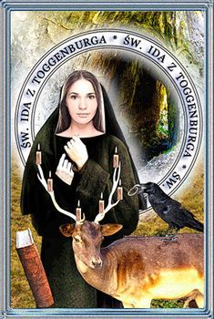 Ida ( Ita, Ydda, Judith, Gutta ) z Toggenburga, mniszka Narnia, Catholic, Mona Lisa, Artwork, Saints, Icons, Work Of Art, Auguste Rodin Artwork, Symbols