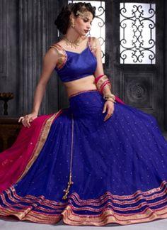 Pink Blue Embroidery Work Banglori Net Chiffon Designer Fancy Lehenga Choli         #LEHENGA #Choli #Wedding #Bridal       http://www.angelnx.com/Lehenga Choli