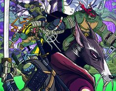 """Check out new work on my @Behance portfolio: """"TMNT 30th Tribute"""" http://on.be.net/1y6JO2n"""