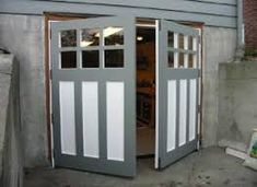 Hand-made custom real swing out or swinging carriage door, carriage house garage doors, & hinged carriage doors with unparalleled craftsmanship, materials & finishing services that are built to last for years by Vintage Garage Door, LLC in Seattle WA. Swing Out Garage Doors, Carriage House Garage Doors, Custom Garage Doors, Diy Garage Door, Wood Garage Doors, Carriage Doors, Diy Door, House Doors, Barn Doors