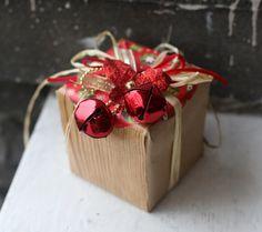 Dollar store gift wrap idea