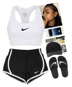 8fdf603a0b539 by xxsaraxtaraxx ❤ liked on Polyvore featuring NIKE and Mophie Наряды Для  Ленивого