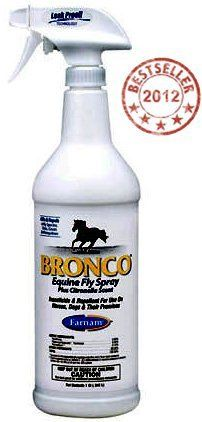 Bronco E Fly Spray with Citronella . $5.95. Suggested Retail - $10.99 45% off - $5.95 From Farnam! This economical fly spray from Farnam kills and repels insect pests. Formula features .033% Prallethrins, .10% Permethrin and .50% Piperonyl Butoxide. 2012 Best Selling Fly Control Product - click here for more details. Features Ready-to-use formula is economical, yet effective Repels and kills house flies, horn flies, stable flies, deer flies, horse flies, mosqu...