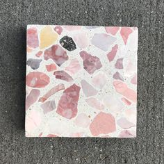 rose quartz inspired TERRAZZO for the win // we custom source all our raw materials and hand craft each small batch for truly unique…