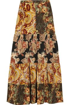 Duro Olowupatchwork printed cotton and silk-blend maxi skirt