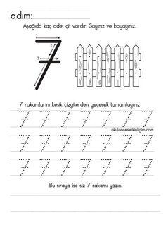 Alphabet Writing Worksheets, Letter Worksheets For Preschool, Printable Alphabet Letters, Numbers Preschool, Printable Activities For Kids, Learning Numbers, Preschool Curriculum, Writing Numbers, Preschool Math