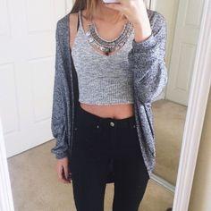 Layered sweater look