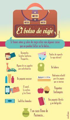 ¿Qué le ponemos a nuestro bolso? El Blog de Sarai Llamas: El bolso de viaje - la infografía -