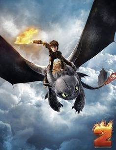 Hiccup and his flaming sword. Can't beat that.