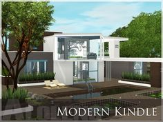 Modern Kindle house by Aloleng • Sims 3 Downloads CC Caboodle