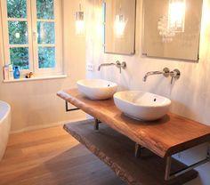 Perfekt Konsole Waschtisch Waschtischplatte Massiv Eiche Rustikal Auf Maß  Waschtischkonsole Holzbohle Für Waschbecken   Holzwerk Hamburg