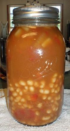 Navy Bean & Ham Soup for Canning