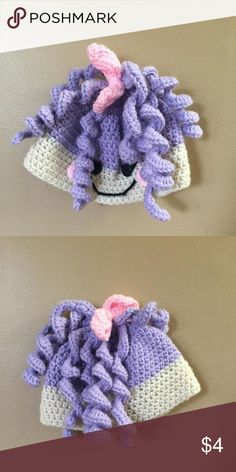 La la loopsy inspired handmade hat Fit my daughter 18-24 months. Small toddler size -material will stretch. Accessories