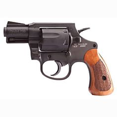 Rock Island Armory 206 Revolver .38 Special 6 Round 2 Barrel Blued Alloy Frame Wood Grip Fixed Sights  51283