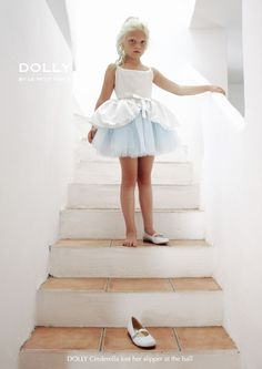 DOLLY by Le Petit Tom ® BUTTON BALLET CINDERELLA TUTU SKIRT light blue