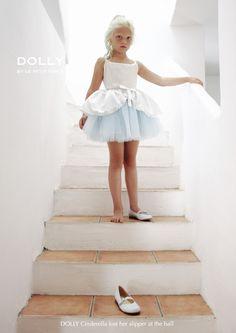 DOLLY by Le Petit Tom ® BUTTON BALLET CINDERELLA TUTU SKIRT light blue