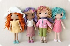 Bohemian Outfit pdf Pattern for Pocket Poppet Doll di Gingermelon