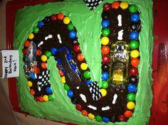Race car cake I made for markie