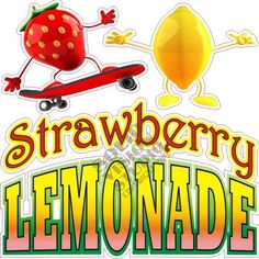 """14"""" Strawberry Lemonade Decal for Concession Trailer Food Ice Cream Truck Sign  #SolidVisionStudio"""