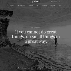 """#Yatzerquoteoftheday ""If you cannot do great things, do small things in a great way."" #NapoleonHill / featured photo: The World's Largest Drawing: An…"""