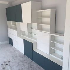 IKEA Besta storage combination with doors, drawers & shelving. #ikea #besta