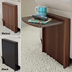 Tuc-Away Table. Would be great if your couch end is by a narrow walkway and you don't always want the table clutter!