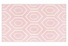 Ampara Dhurrie, Pink/Ivory | One Kings Lane