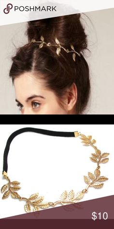 Gold leaf headband Bring out your inner goddess with this pretty gold leaf headband, I love hair jewelry, so fun, Brand new in packaging Accessories Hair Accessories