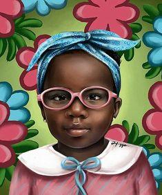 Brown Babies, Afro Punk, African American Art, Black Is Beautiful, Black Art, Female Art, Art Images, Graffiti, Street Art