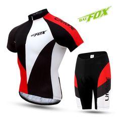 BATFOX Summer Cycling Sets Short Sleeve Bicycle Wear MTB Clothing Ropa Ciclismo Bike Cycle Uniform Racing Cycling Jersey Set