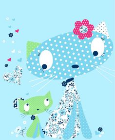 All about surface pattern ,textiles and graphics: A few of the many cats ..........
