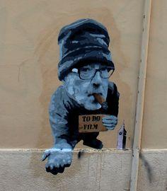 big ben street art - to do film 1-2015 - Jen Luc Godard
