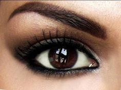 how to make brown eyes pop out