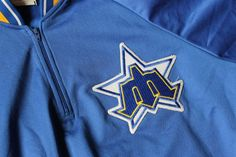 Vintage 1980s Seattle Mariners BP/Spring Jersey/Pullover #Majestic #SeattleMariners