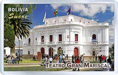 $3.29 - Acrylic Fridge Magnet: Bolivia. The Teatro Gran Mariscal. Sucre