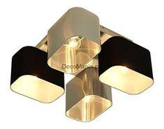 Lampa sufitowa - Wero Design - Plafon Benito - 001 Mix: Czarny / Srebrny
