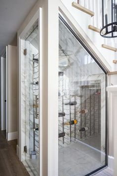 Wine cellar under staircase