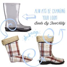Oh snap!! With #BootsByTwoAlity you can always be changing your look!  www.thetwoalitystore.com #ClearBoots #Style #Boots #StyleOfTheDay #Footwear #Fashion