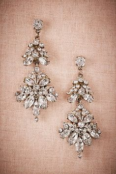 Volant Chandelier Earrings by BHLDN   ||  Perfect Wedding or Bridesmaid Earring   ||  Follow @KWHBridal