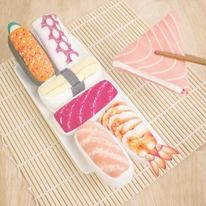Japanese Style Sushi Socks are made with colorful feature, going to stand alone towards your holey, black odds and sods. Pick from seven mouth-watering designs, such as Masuzushi, Octopus, Egg Red Caviar, Tuna, Salmon and Shrimp. Available at Firebox.com