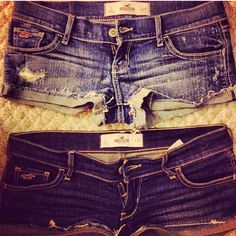 Hollister shorts (; if my thighs were smaller