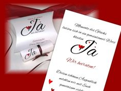 Hochzeitseinladungsbox in rot Box, Place Cards, Place Card Holders, Inspiration, Fancy Wedding Invitations, Red Wedding, Invites Wedding, Silver Anniversary, Invitation Cards