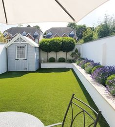 Small Backyard Ideas - Also if your backyard is small it also can be very comfy and also inviting. Having a small backyard does not indicate your backyard landscaping . Back Garden Design, Modern Garden Design, Backyard Garden Design, Fence Design, Small Garden Ideas Modern, Small Garden With Shed, Small Garden Plans, Small Garden Ideas Artificial Grass, Garden Pool