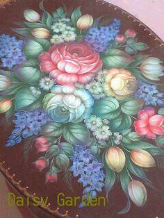 作品展示のおしらせ : Tolepaint Daisy Garden