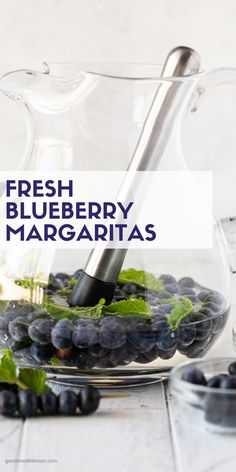 Dont let the gorgeous color fool you into thinking this is a super sweet drink! Easy to make as a batch cocktail these Blueberry Margaritas are my new favorite summer drink. Vodka Recipes, Margarita Recipes, Shake Recipes, Drink Recipes, Lemon Recipes, Summer Recipes, Tequila Drinks, Fruity Drinks, Summer Cocktails