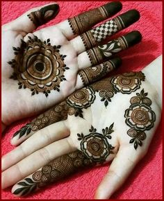 Explore latest Mehndi Designs images in 2019 on Happy Shappy. Mehendi design is also known as the heena design or henna patterns worldwide. We are here with the best mehndi designs images from worldwide. Mehndi Designs Front Hand, Rose Mehndi Designs, Latest Bridal Mehndi Designs, Modern Mehndi Designs, Mehndi Design Pictures, Mehndi Designs For Girls, Mehndi Designs For Beginners, Wedding Mehndi Designs, Beautiful Henna Designs