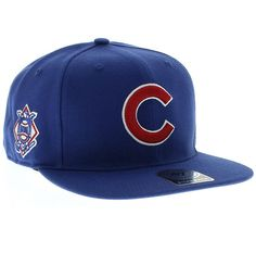 Chicago Cubs Sure Shot Captain Royal Wool Adjustable Snapback Hat by  47  Brand 947a476c1a2